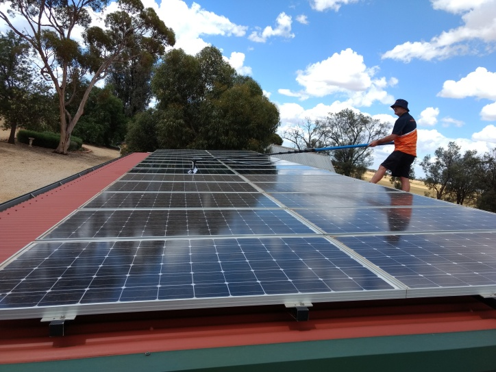 During Solar Panel Cleaning Riverland